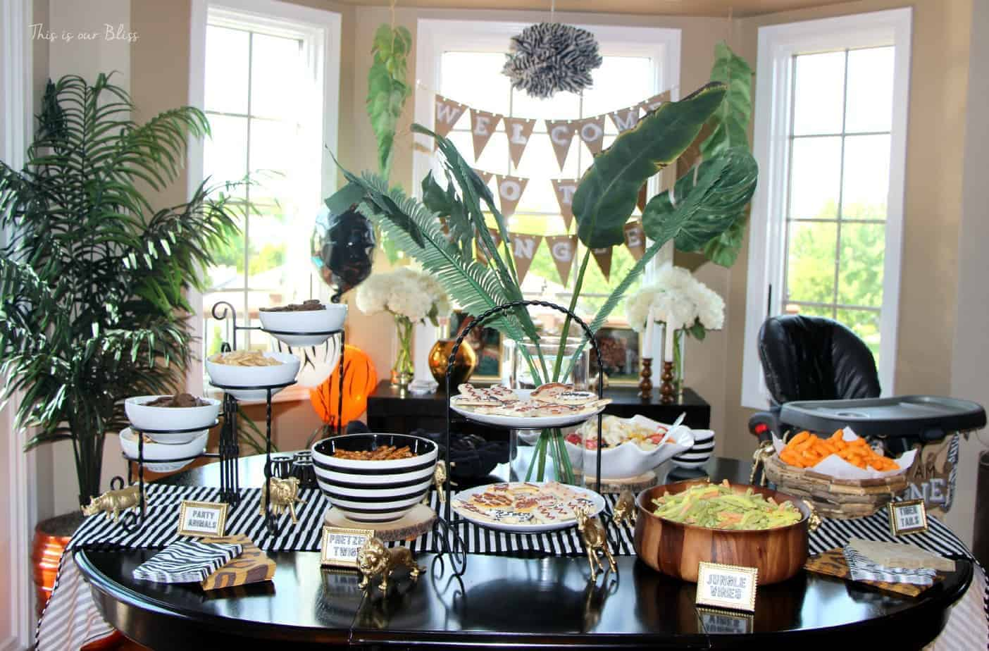 Welcome To The Jungle Safari Birthday Party First Decorations Diy Food Table This Is Our Bliss