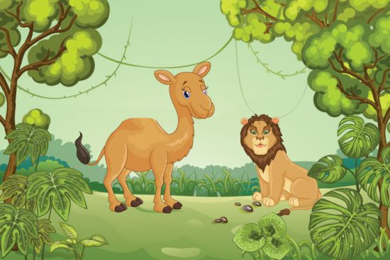 The Lion and The Camel: Panchatantra Short Stories | AllAboutKiids